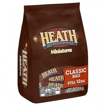Heath Miniatures Candy Bars Chocolates Travel On The Go English Toffee 12oz Bag