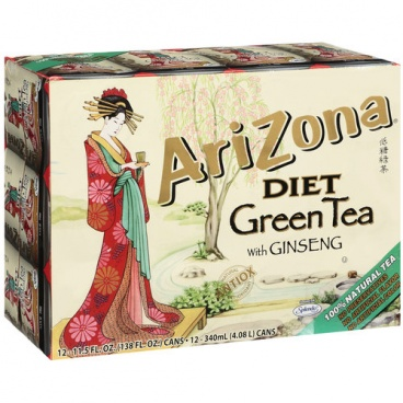 Arizona Diet Green Tea With Ginseng Case of 12 Cans