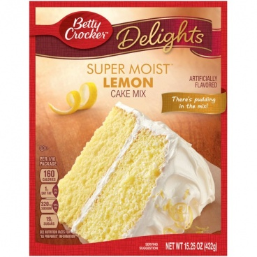 Betty Crocker Super Moist Lemon Cake Mix 15.25oz 432g