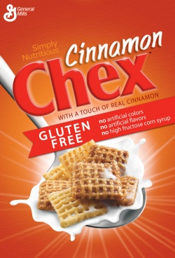 General Mills Chex Cereal - Cinnamon 343g 12.1 oz Gluten Free Cereal