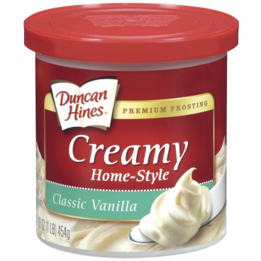 Duncan Hines Home Style Classic Vanilla Frosting 453g - 8 Packs CASE BUY