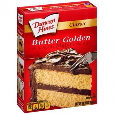 Duncan Hines Classic Butter Golden Moist Cake Mix 432g CASE BUY- 12 PACKS