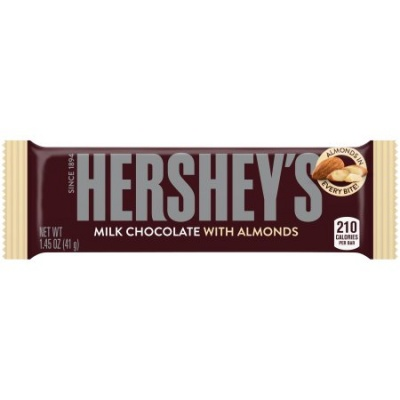 Hersheys Milk Chocolate with Almonds 41g Hershey's