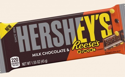 Hershey's milk chocolate & Reese's pieces candy 43g 1.55oz