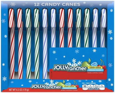 Jolly Rancher Holiday Candy Canes Assortment 12 Candy Canes (149g)
