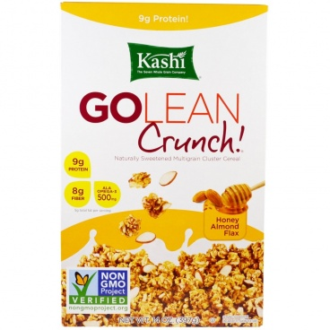 Kashi, Go Lean Crunch! Honey Almond Flax, 14 oz (397 g)