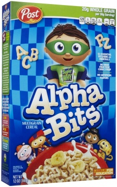 Post Alpha-Bits Cereal (12 oz)  340g American Breakfast Cereal