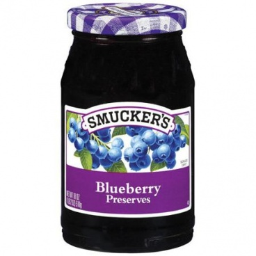 Smucker's  Blue Berry Preserves 340g - Smuckers Glass Bottle