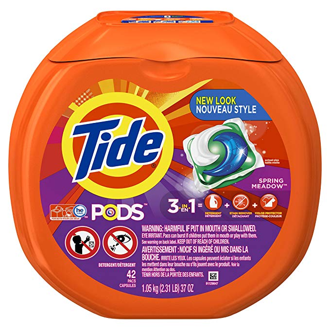 Tide Pods Spring Meadow Scent Laundry Detergent 42 COUNT 37 oz