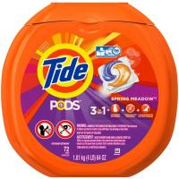 Tide PODS HE (3 in 1) SPRING MEADOW 72 CAP 64oz 1.81kg