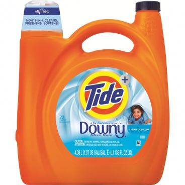 Tide  Plus a Touch of Downy Clean Breeze Liquid Laundry Detergent,138 fl oz  72 Loads