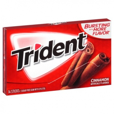 Trident Sugar Free Gum - Cinnamon 14 STICKS RED