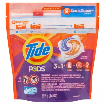 Tide Pods Spring Meadow Detergent 397g - 16 Pods