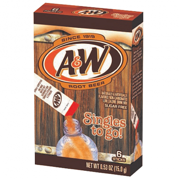 A&W Singles To Go Powdered Root Beer Drink Mix 0.53 oz (15g) A & W Soda