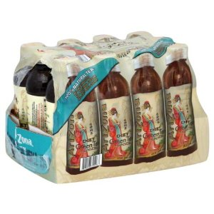 Arizona Zero Green Tea With Ginseng 12 fl oz 355ml Case of 12 Bottles