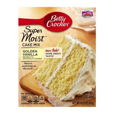 Betty Crocker Super Moist Golden Vanilla Cake Mix 15.25oz 432g Case Buy of 12