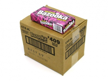 Bazooka Joe Bubble Gum Case of 12 - 113 g Boxes American  Gum
