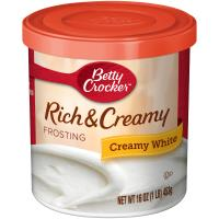 Betty Crocker Rich &  Creamy White Frosting 453g - 8 Packs CASE BUY