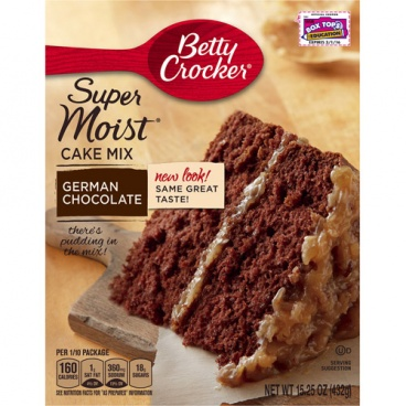 Betty Crocker Super Moist German Chocolate Cake Mix 15.25oz 432g - 12 Packs CASE BUY