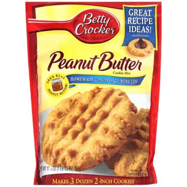 Betty Crocker Peanut Butter Cookie Mix, 17.5 oz 496g - 12 Packs CASE BUY