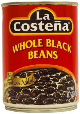 La Costena Whole Black Beans 560g MEXICAN