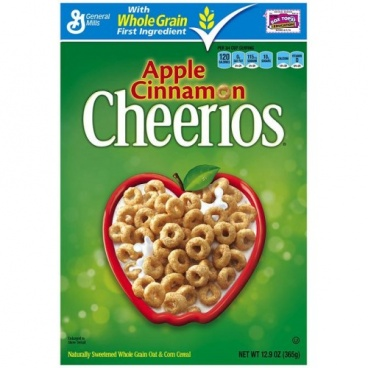 Cheerios Apple Cinnamon Cereal, (12.9 oz) 365g General Mills Cereal