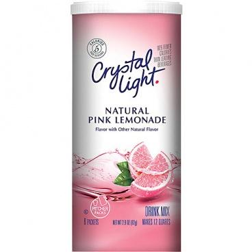 Crystal Light Natural Pink Lemonade Drink Mix 1 9oz 53g