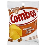 Combos Snack Cheddar Pretzel 6.30oz 178.6g orange bag