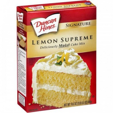 Duncan Hines Signature Lemon Supreme Deliciously Moist Cake Mix 468g