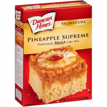 Duncan Hines Moist Delux Pineapple Supreme Cake Mix 468g 16.5oz - 12 Packs -CASE BUY