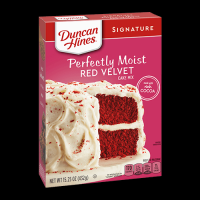 Duncan Hines Signature Red Velvet Delicious Moist Cake Mix  468g - 12 Packs Case Buy