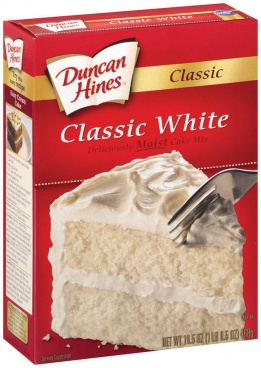 Duncan Hines Classic White Moist Cake Mix 468g Case Buy 12 Packs