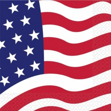 American Flag Napkins 16CT. 2-PLY