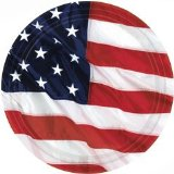 American Flag Plates 8CT. 9in. 22.9cm