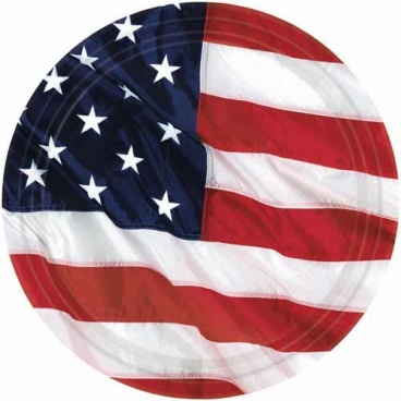 American Flag Plates Small 8CT. 6.3/4in. 17.1cm