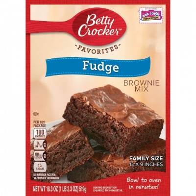 Betty Crocker Fudge Brownie Mix 519g  - 12 Packs Case Buy