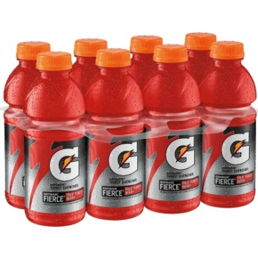 Gatorade Thirst Quencher Fruit Punch + Berry Sports Drink 20 fl oz 591 ml Pack of 12