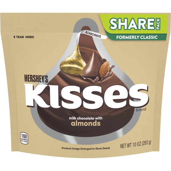 Hersheys Kisses milk chocolate with Almonds 283g (10oz) Hershey's