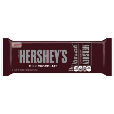 Hershey's Snack Size Milk Chocolate Bars- 8 - 12g Bars  Individual Wrapped Hersheys