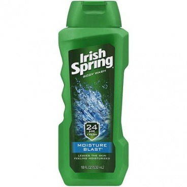 Irish Spring Body Wash Moisture Blast by Irish Spring for Unisex - 18 oz (532ml) Body Wash