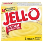 Jell-o Jello Instant Lemon Pudding & Pie Filling, 3.4oz 96g (2 packs)Jell O
