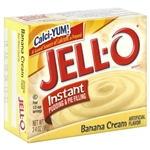 Jell-o Jello Instant Banana Cream Pudding & Pie Filling, 3.4 Oz 96g