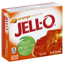 Jell-O Orange Gelatin 85g 3oz