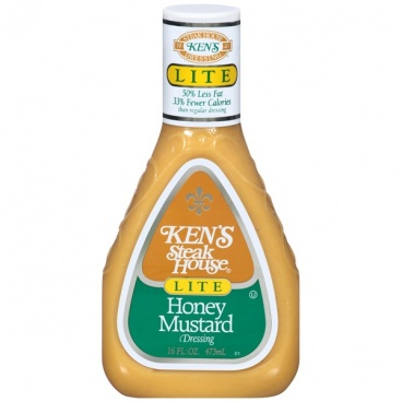 Kens Steak House Lite Honey Mustard Dressing 473ml Ken's