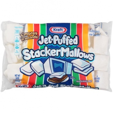 Kraft Jet-Puffed Stacker Mallows Marshmallows: