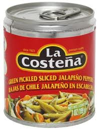 La Costena Green Pickled Sliced Jalapeno Peppers (199g)