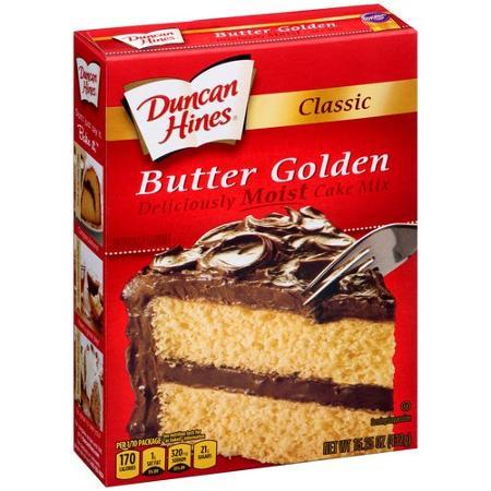 Duncan Hines Classic Butter Golden Moist Cake Mix 432g