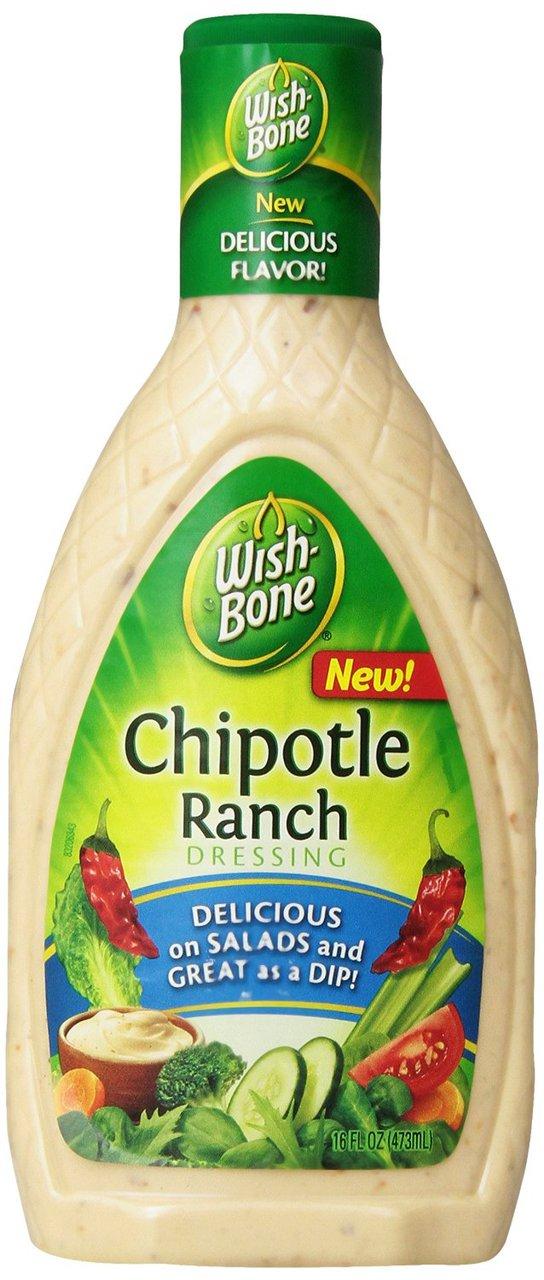 Wish-Bone Chipotle Ranch Dressing 16fl oz 473ml WishBone Dressing ...