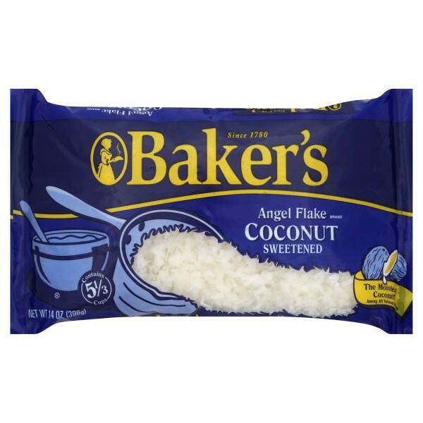 Bakers Angel Flake Coconut Sweetened 14oz 396g Bag 10