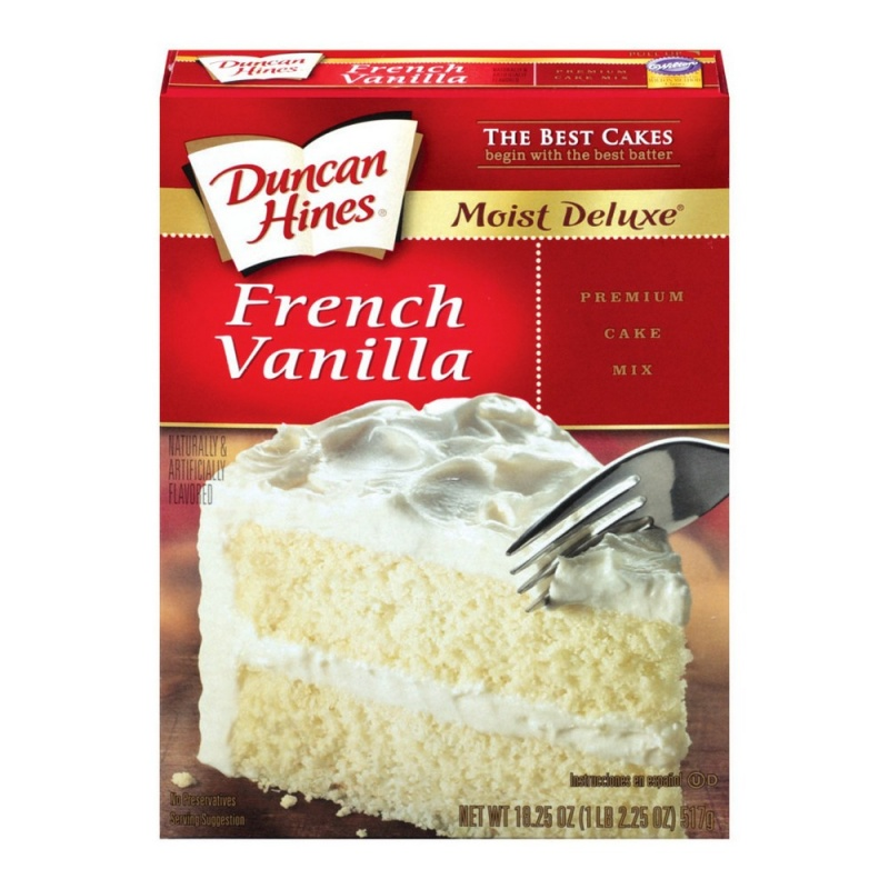 Duncan Hines Moist Delux French Vanilla Cake Mix 468g Case